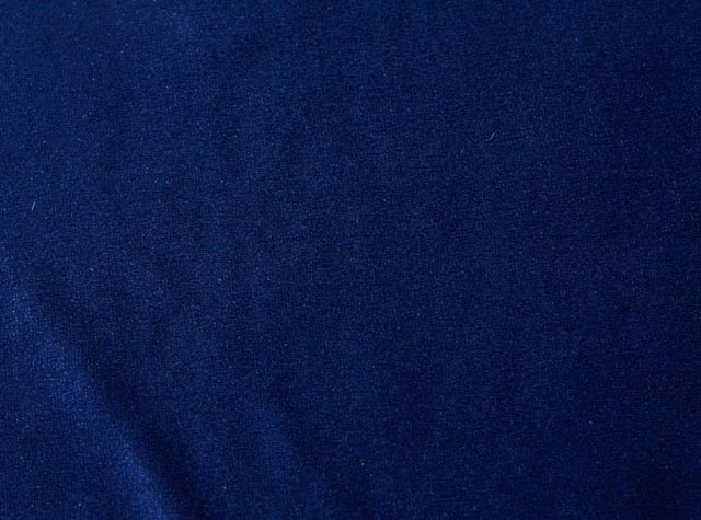 Navy Blue Cotton Velvet Fabric By The Yard