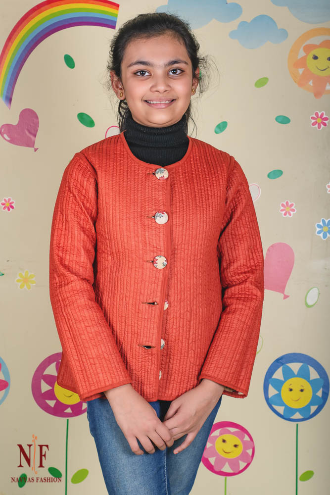 Butterscotch Reversible Quilted Kids Jacket