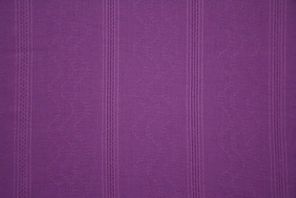 Opera Purple Self Design Cotton Dobby Fabric