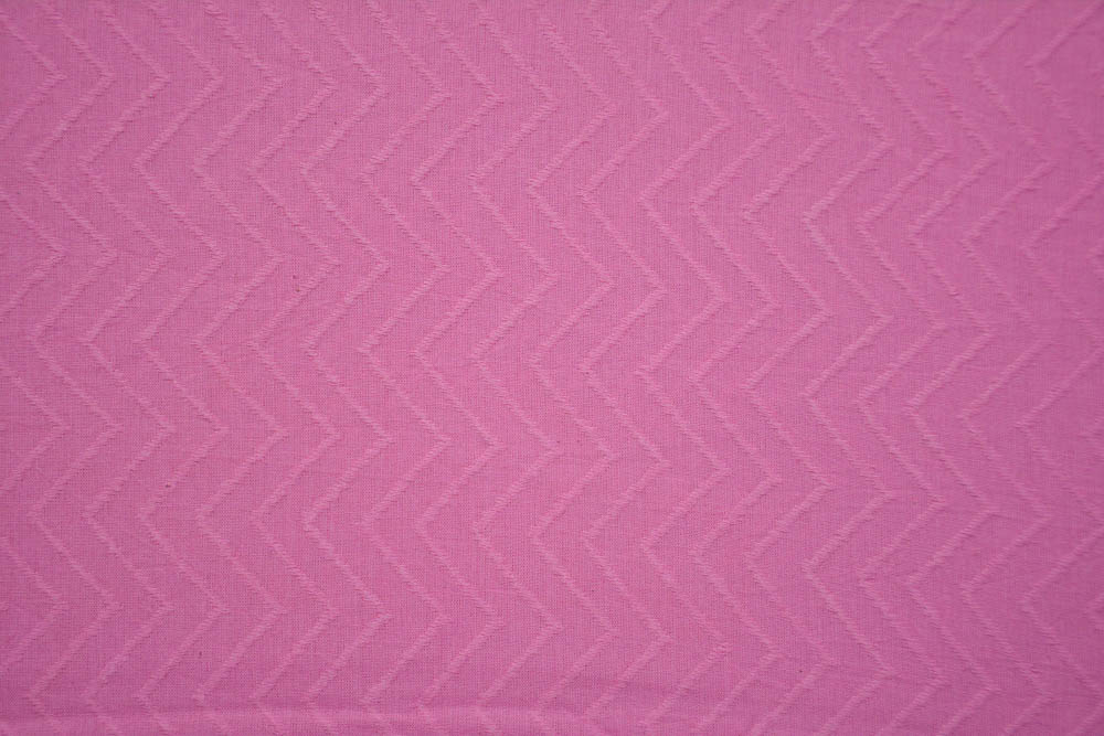 Prism Pink Self Design Cotton Dobby Fabric
