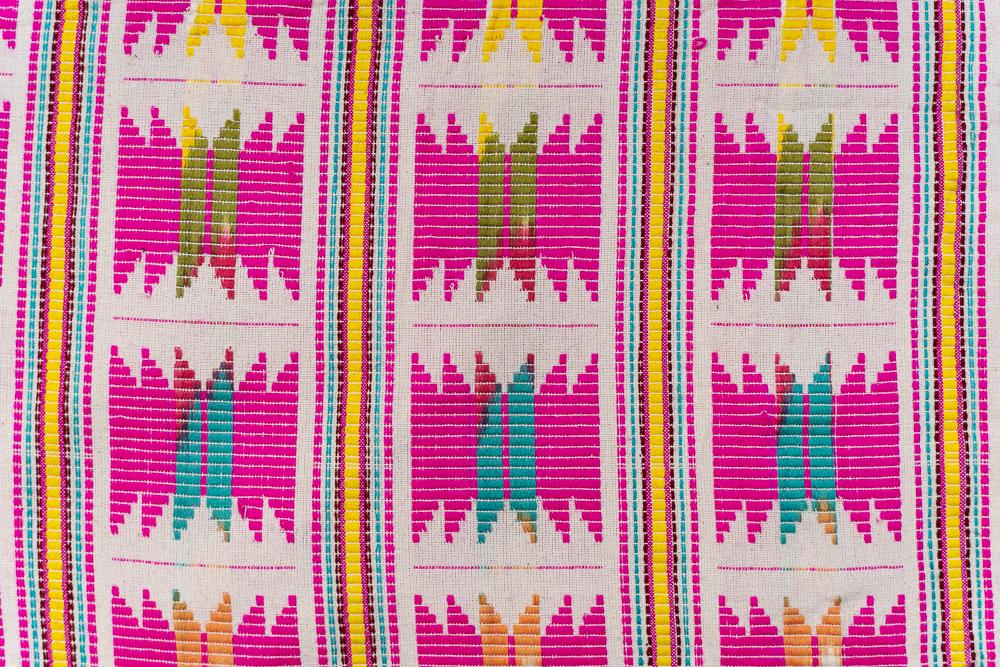 Multicolor Silk Cotton Ikat Fabric