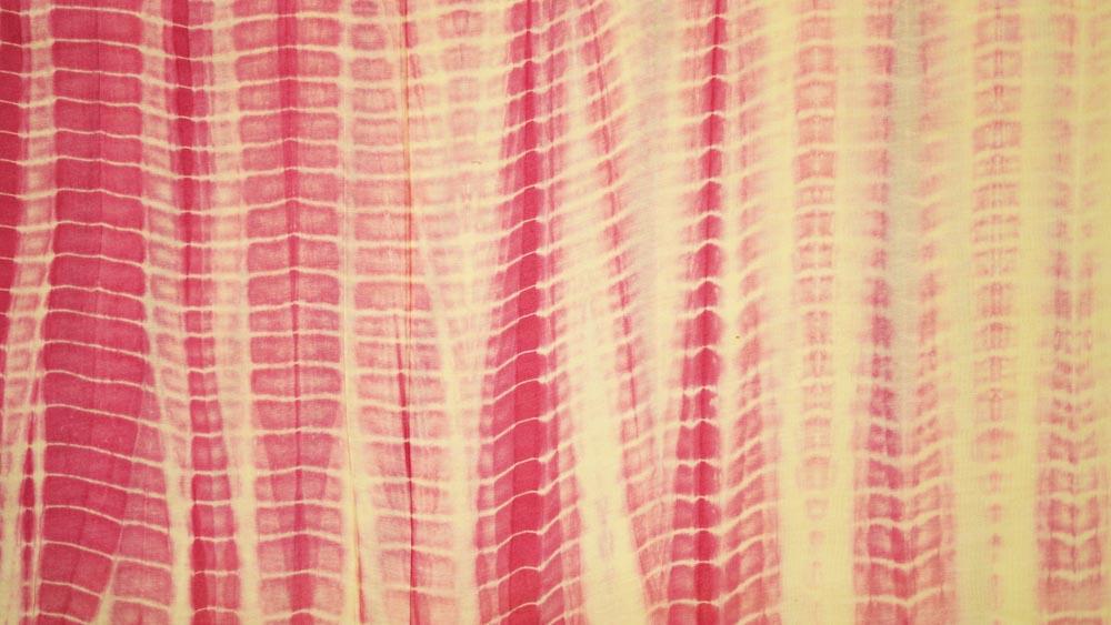 Pink Shibori Banarasi Silk Cotton Fabric