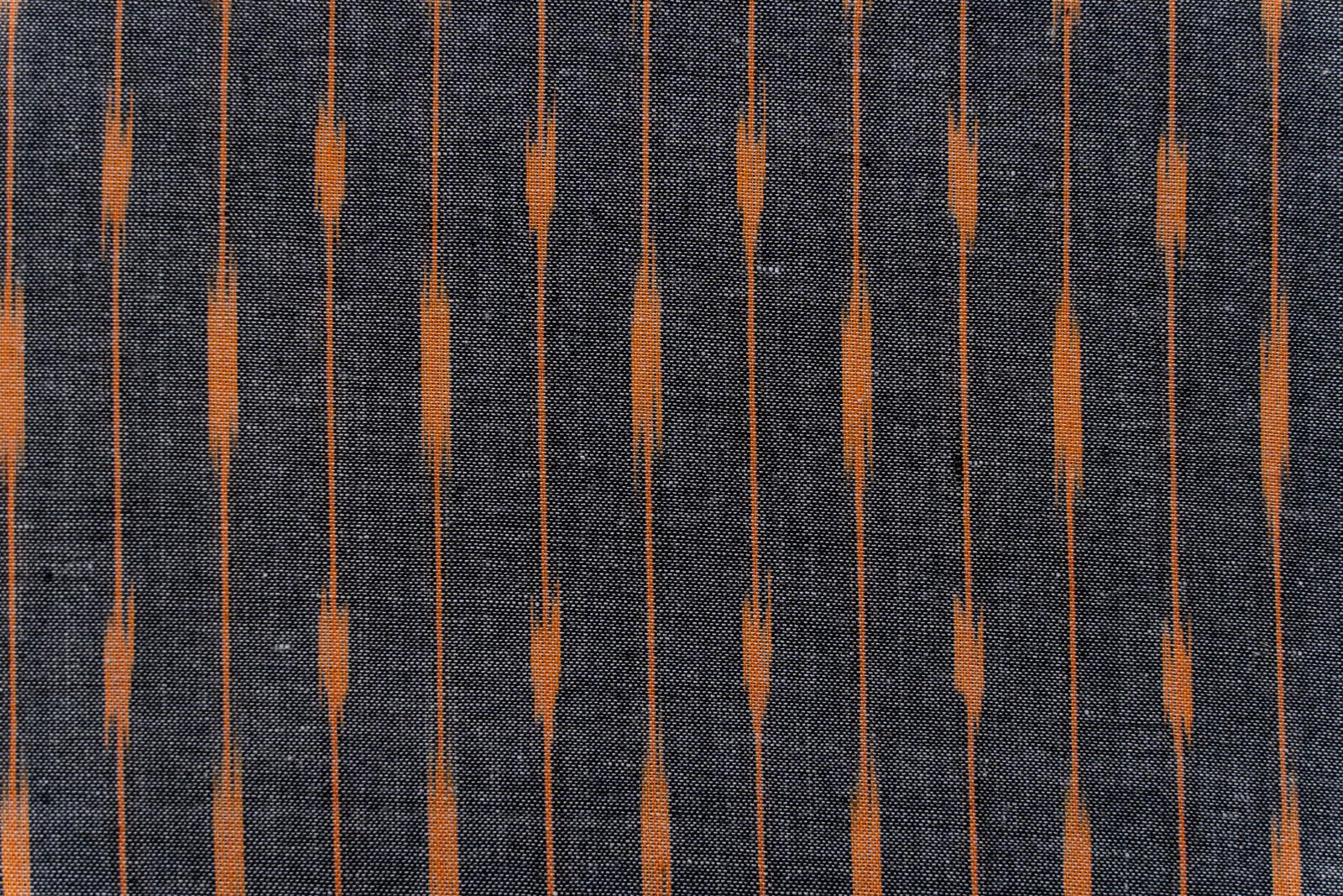 Grey Peach Ikat Cotton Fabric