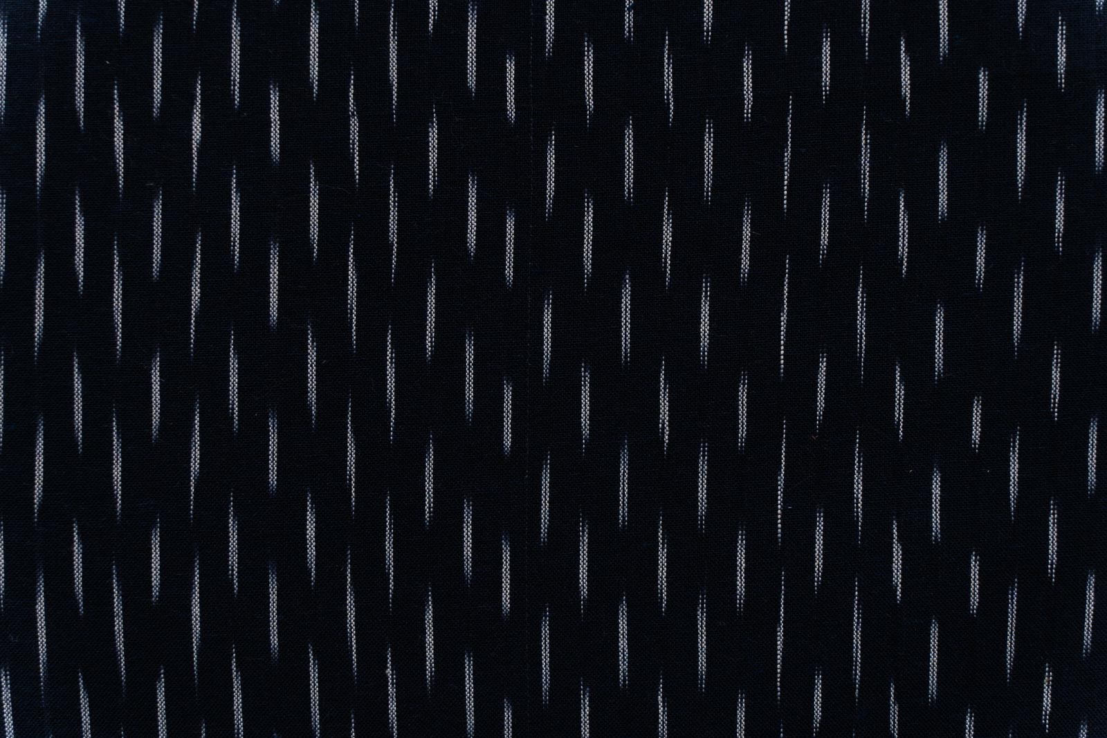 Black White Ikat Cotton Fabric