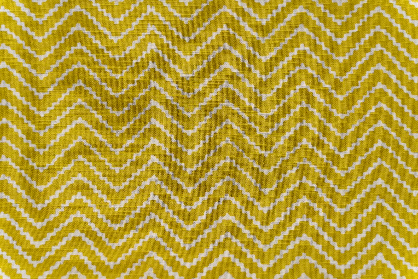 Mustard Block Print Upholstery Cotton Fabric