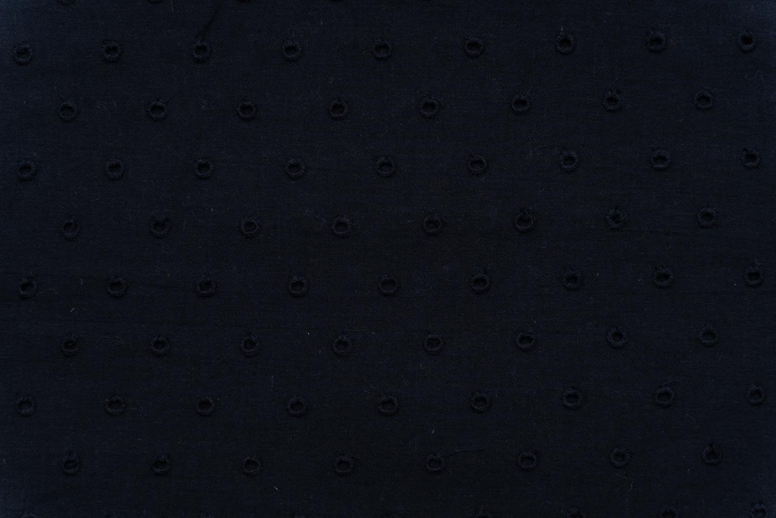 Black Chikankari Embroidered Fabric