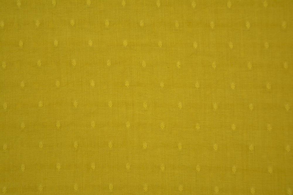 Golden Mustard Woven Motif Cotton Fabric