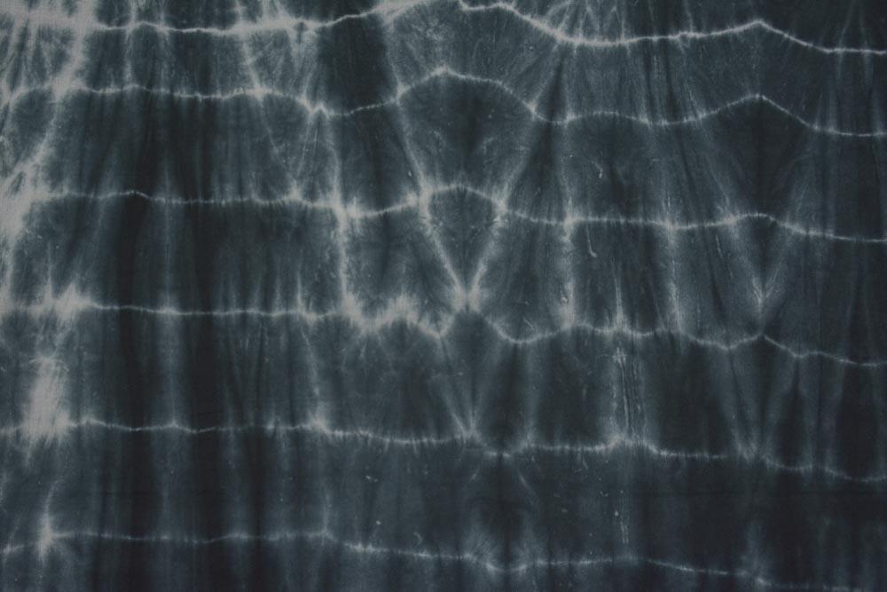 Black And White Shibori Cotton Fabric