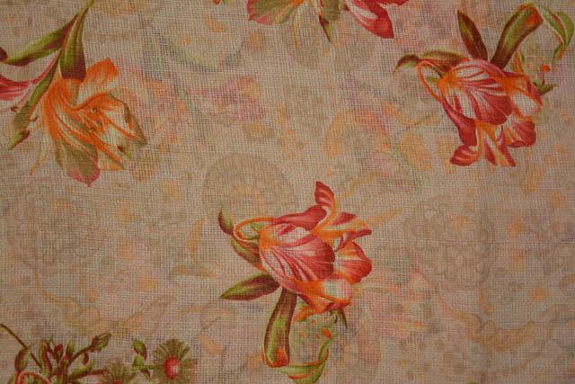 Sheepskin Floral Kota Doria Fabric