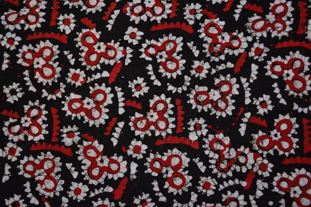 Tricolor Batik Print Fabric