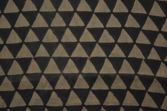 Triangle Block Printed Pashmina Wool Fabric By The Yard
