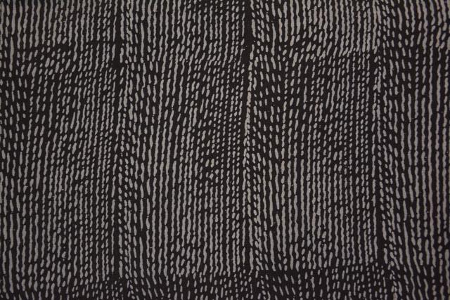 Black And Grey Print Silk Cotton Fabric