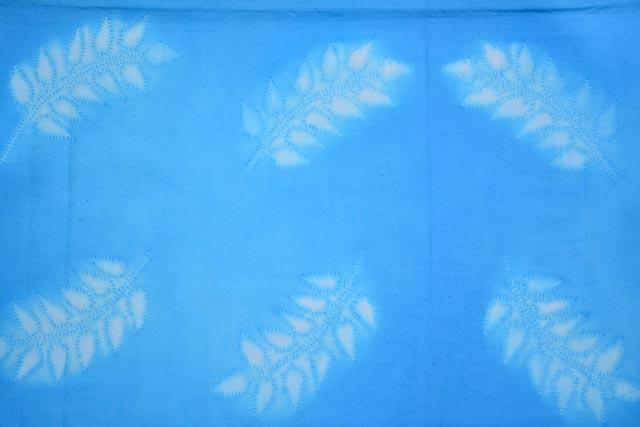 Skyblue And White Shibori Block Printed Cotton Dupatta