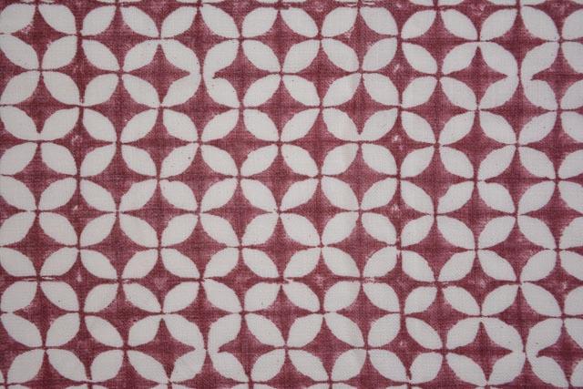Designer Block Printed Pashmina Wool Fabric By The Yard