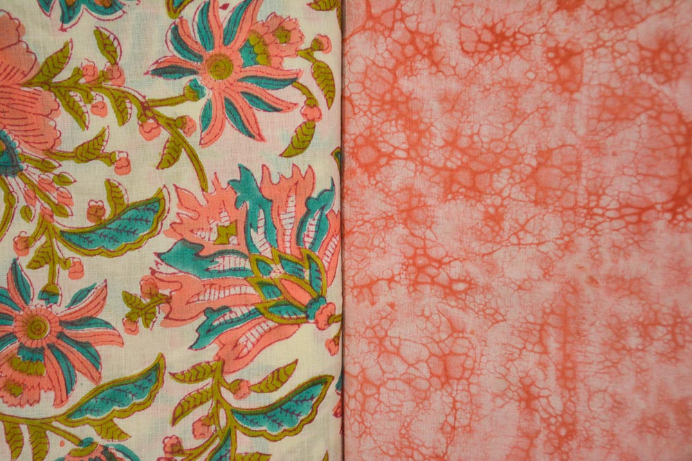 Floral Cotton Hand Block Printed Combo Set