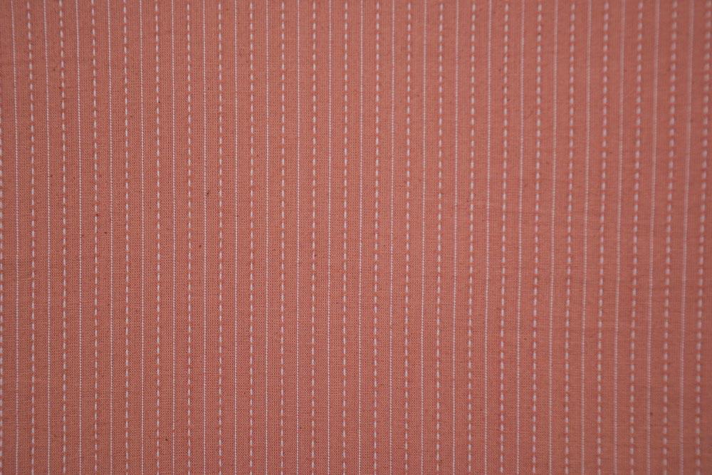 Pink Cotton Kantha Stitch Fabric