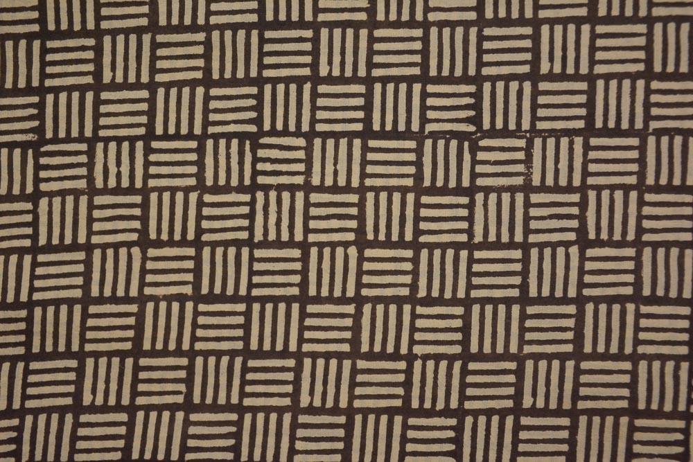 Bagru Square Hand Block Printed Cotton Fabric
