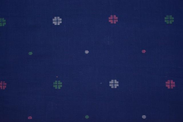 Sodalite Blue Jamdani Cotton Fabric Online