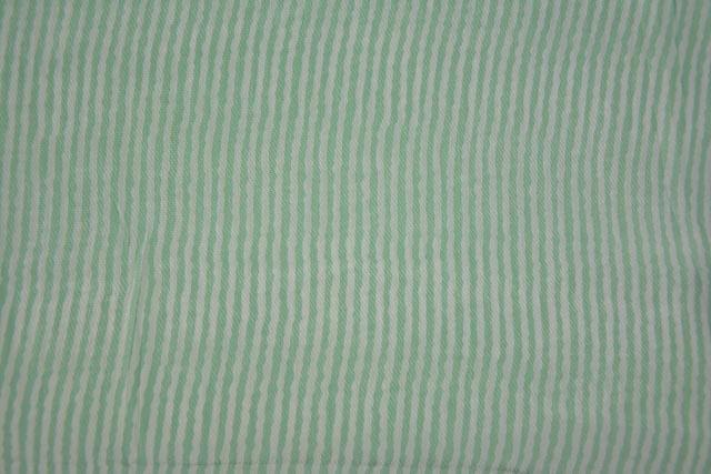 Soft Green Stripes Pure Crepe Silk Fabric