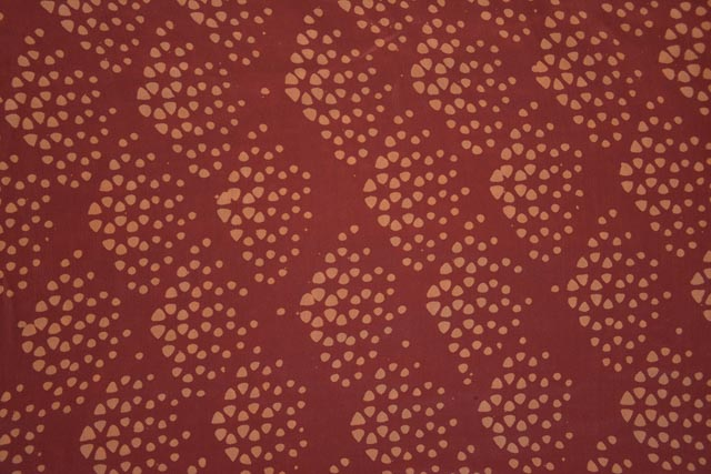 Brick Red Diamond Pure Crepe Silk Fabric