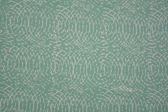 Gourd Green Block Print Modal Fabric