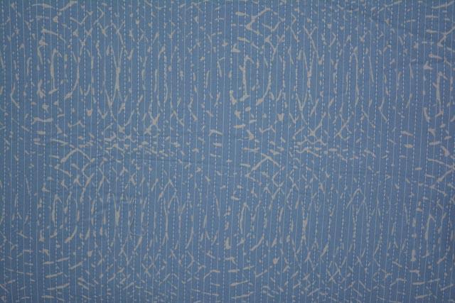 Blue Circles Cotton Kantha Fabric