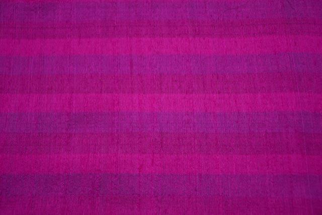 Fuchsia Pink Striped Handloom Raw Silk (dupion)