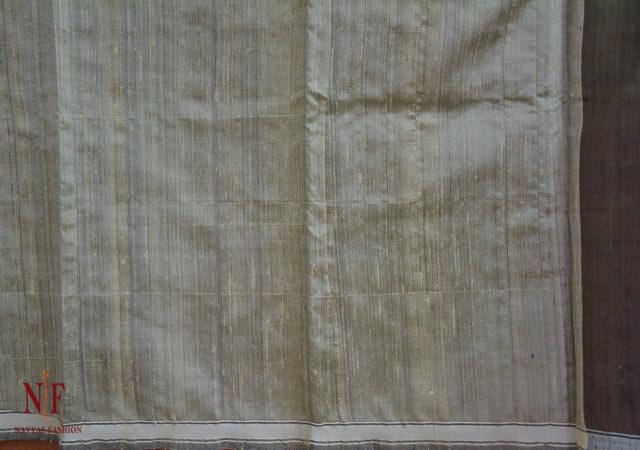 Beetle Green Handloom Women's Pure Dupion Silk Sarees