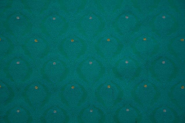 Dynasty Green Tanchui Banarasi Silk Fabric