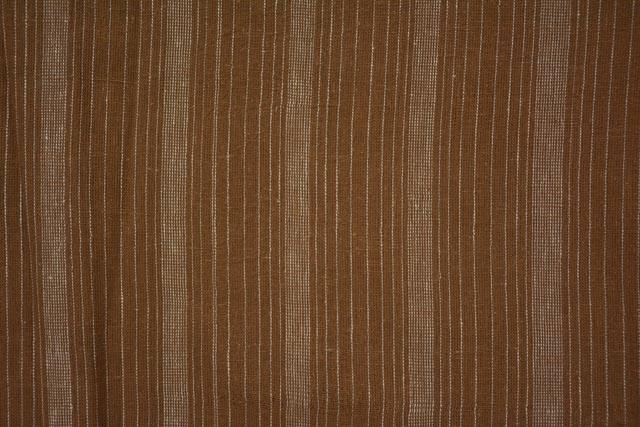 Thrush And White Striped Organic Handloom Cotton Fabric