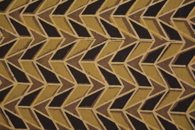 Ajrakh Cotton Triangle Block Print Fabric