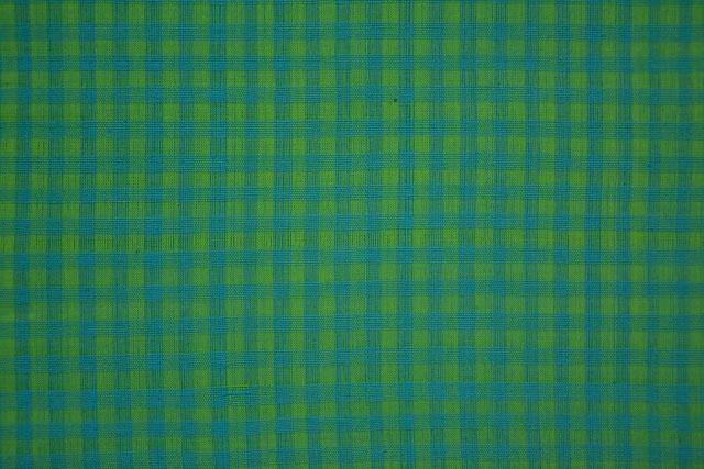 Ming And Blue Checks Pattern Mangalgiri Pure Handloom Cotton Fabric