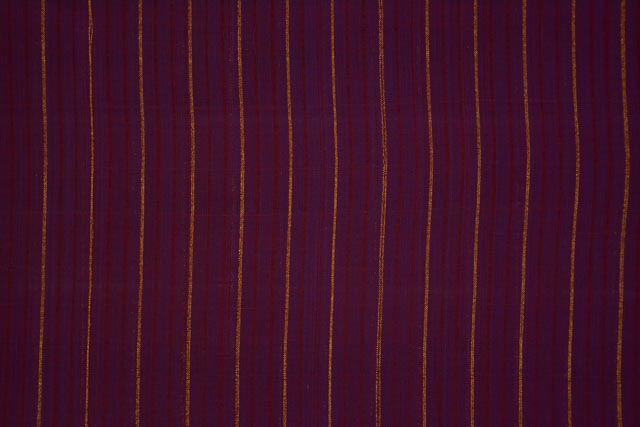 Purple Potion Zari Striped Mangalgiri Pure Handloom Cotton Fabric
