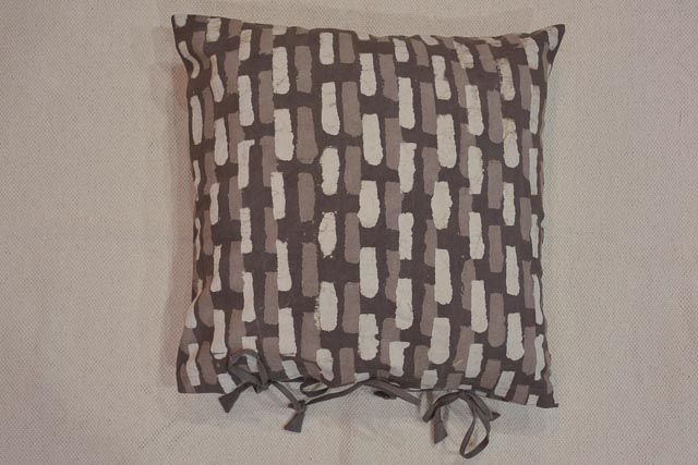 Natural Dye Kashish Geometric Block Print Cushion Cover