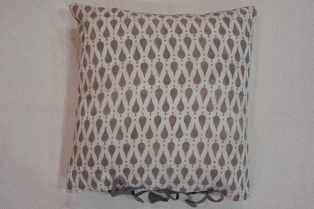 Natural Dye Kashish Leaf Block Print Cushion Cover