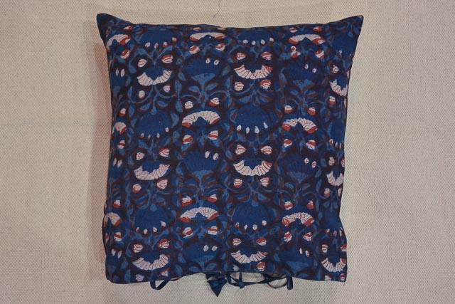 Multi Color Flower Block Print Cushion Cover
