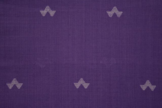 Patrician Purple Jamdani Cotton Fabric Online