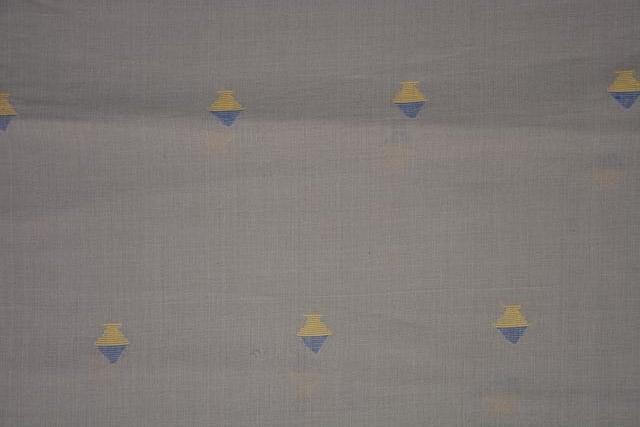 Ash Grey Jamdani Cotton Fabric Online