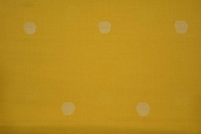 Banana Yellow Jamdani Cotton Fabric Online