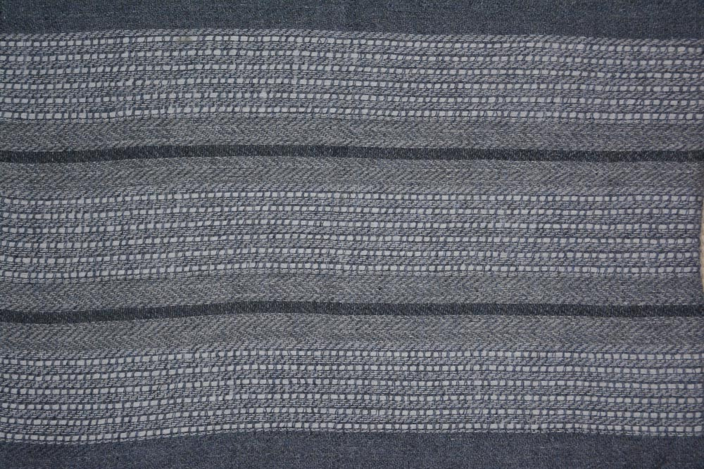 White And Grey Designer Cashmere Wool Stole