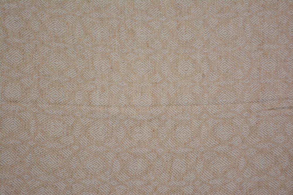 Beige And White Designer Cashmere Wool Stole