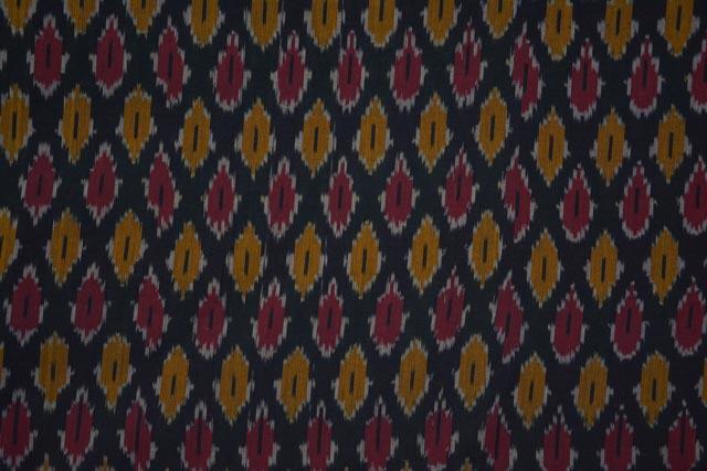 Tricolor Fine Ikat Fabric