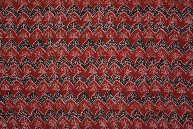 Maroon Printed Georgette Fabric Online