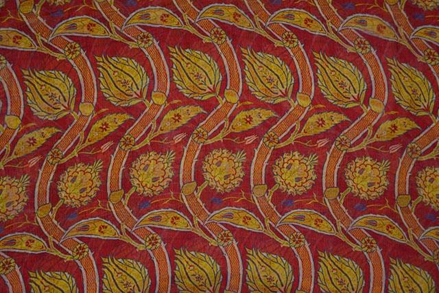 Racing Red Printed Chiffon Fabric By The Yard
