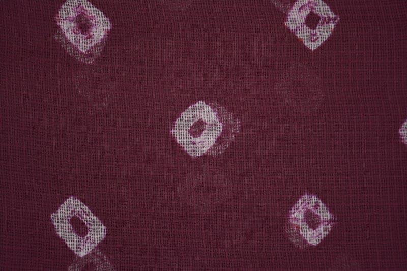 Plum Batik Print Kota Doria Fabric