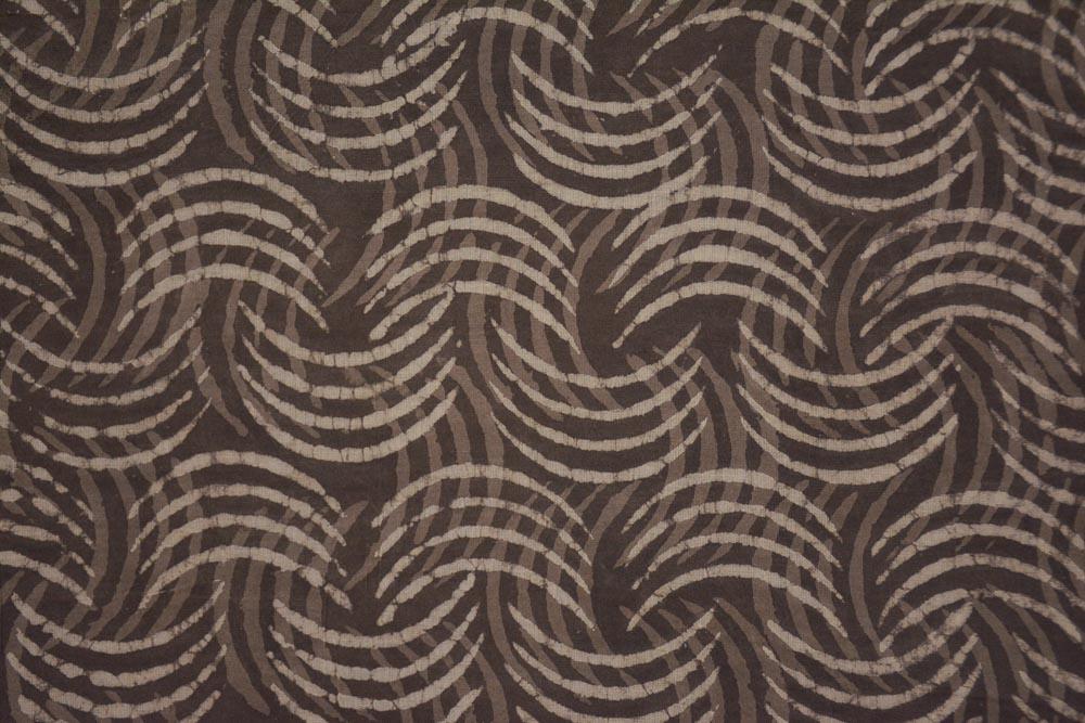 Kashish Grey Designer Hand Block Printed Cotton Fabric