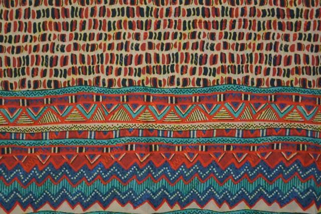 Multicolor Geometric Digital Print Cotton Fabric