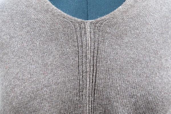 Mocha Mousse Kashmir Wool Poncho