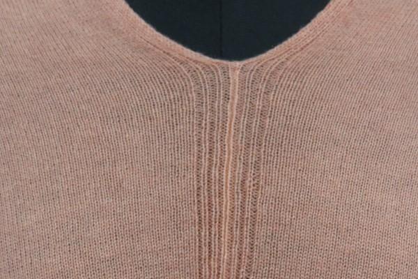 Orange Peel Kashmir Wool Poncho