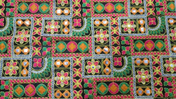 Multicolor Embroidery Georgette Fabric